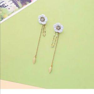Betsey Johnson Unique Dangle Flower Earrings